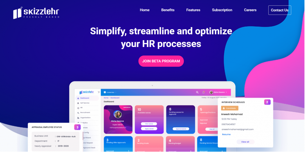 SkizzleHR | Free hrms software solution in india